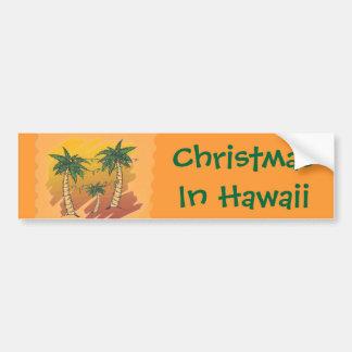 Weihnachten im tropischen Palmen-Autoaufkleber Autoaufkleber