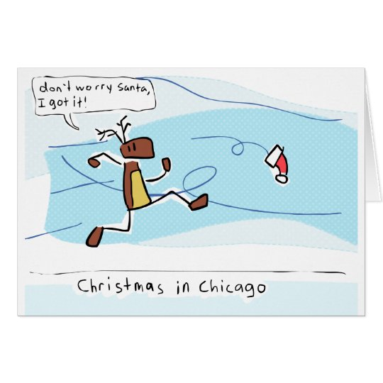 Weihnachten in Chicago Karte