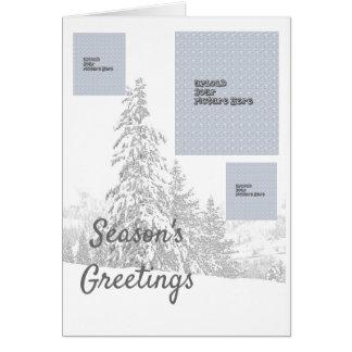 Weihnachten in der GebirgsFoto-Gruß-Schablone Karte