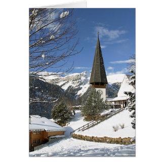 Weihnachten in der Schweiz Grußkarte