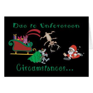 Weihnachten ist annulliertes lustiges Weihnachten Karte