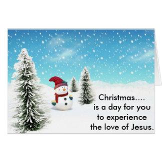 Weihnachten. ist ein Tag Karte