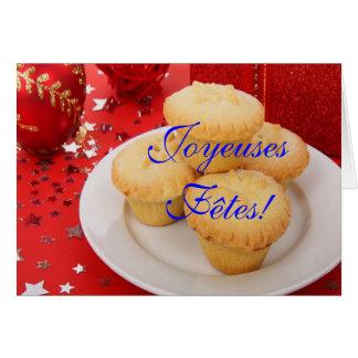 Weihnachten Joyeuses Fêtes und bonne année III Grußkarte