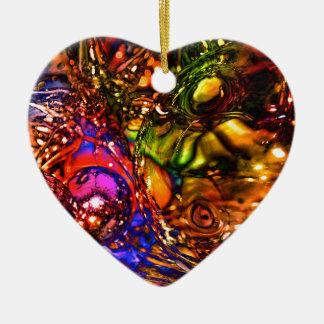 Weihnachten Keramik Herz-Ornament