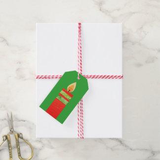 Weihnachten leuchtet roten grünen Geschenkumbau Geschenkanhänger