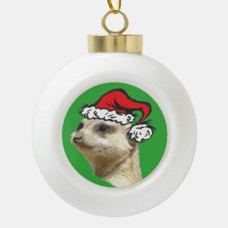 Weihnachten Meerkat Cust. Keramikbal-Verzierung Keramik Kugel-Ornament