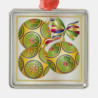 Weihnachten Milliamperestunde Jongg verziert Silbernes Ornament