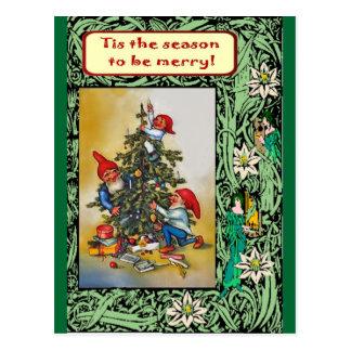 Weihnachten mit den Elfen Postkarte