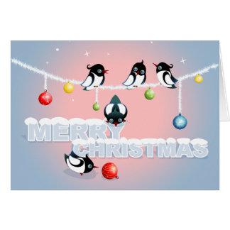 Weihnachten mit Elstern und Blasen 2 Karte