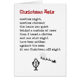 Weihnachten Noir - ein lustiges Weihnachtsgedicht Karte