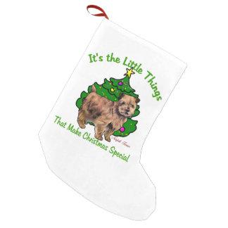 Weihnachten Norfolks Terrier Kleiner Weihnachtsstrumpf