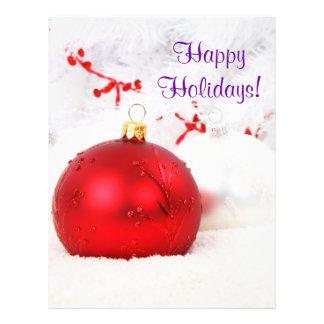 Weihnachten rot und Weiß frohe Feiertage III Bedruckte Flyer