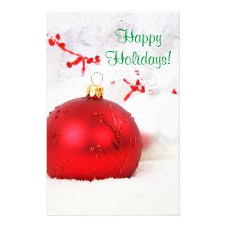 Weihnachten rot und Weiß frohe Feiertage IV Bedruckte Flyer