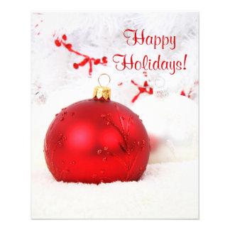 Weihnachten rot und Weiß frohe Feiertage IX Flyerdruck