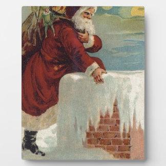 Weihnachten - Sankt, die unten der Kamin kommt Fotoplatte
