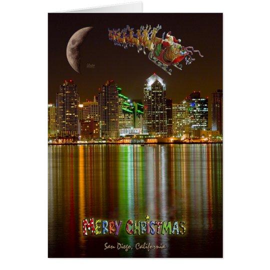 Weihnachten Sans Deigo Grußkarte