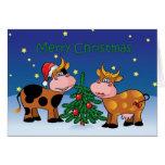 Weihnachten schüchtert glückliches MOO-Jahr ein Karte
