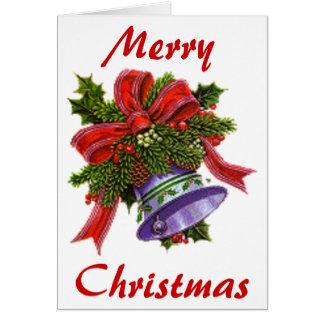 Weihnachten silberne Bell Karte