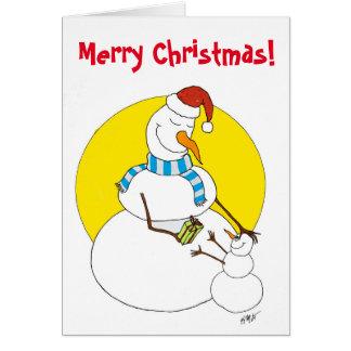 Weihnachten: Snowpeople Grußkarte