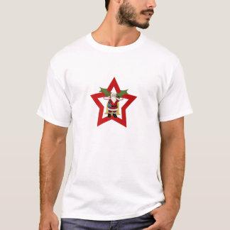 Weihnachten, Stern, Bell und Weihnachtsmann T-Shirt