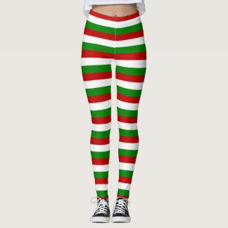 Weihnachten Stripes Gamaschen Leggings
