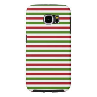 Weihnachten Stripes Kasten Samsung-Galaxie-6