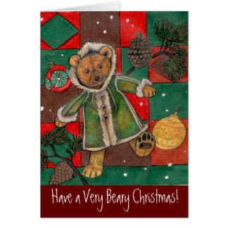 Weihnachten Teddy~Have sehr Beary Weihnachtskarten Karte