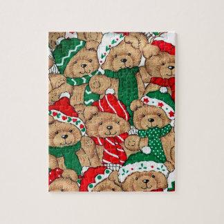 Weihnachten trägt Puzzlespiel