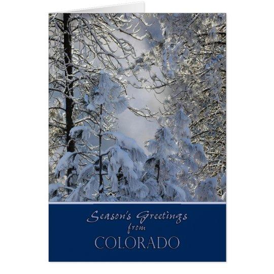 Weihnachten von Colorado-Karte Karte