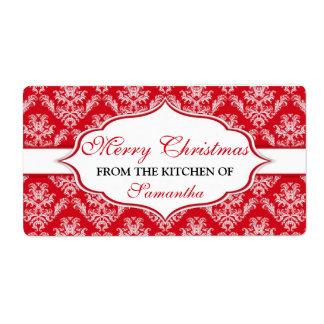 Weihnachten von der Küche der Aufkleber