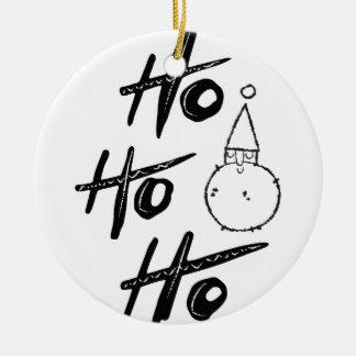 "Weihnachten-Weihnachtsmann-""ho ho ho"" - Keramik Ornament"