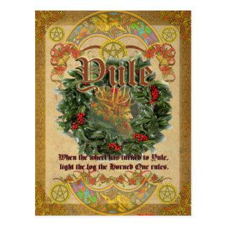 Weihnachten-Winter-Sonnenwende-heidnische Postkarte