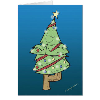 Weihnachten - Yoga-Baum-Pose Karte