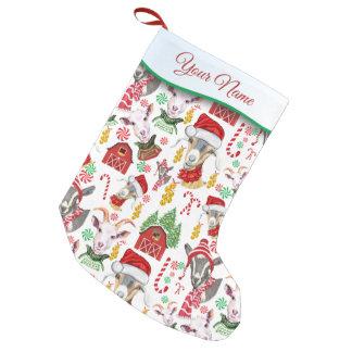 Weihnachten-ZIEGEN Süßigkeit und Klingel Bell Kleiner Weihnachtsstrumpf