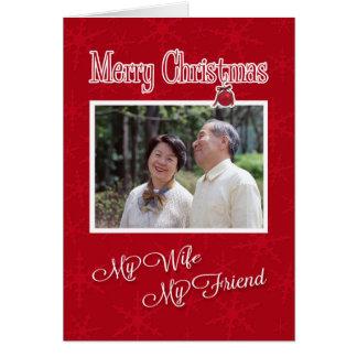 Weihnachten, zu meiner Frau-Fotokartenschablone Karte