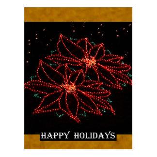 Weihnachten zwei Poinsettias 2016 Postkarte