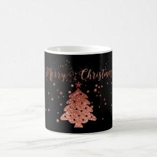 WeihnachtenBling Rosa und Schwarzes Kaffeetasse