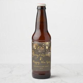 WeihnachtenBokeh Bierflasche-Aufkleber Bierflaschenetikett