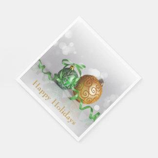 WeihnachtenBokeh Weihnachtsbälle Papierservietten