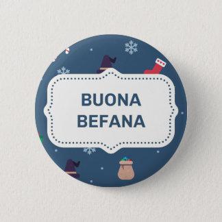 Weihnachtenbuona Befana Runder Button 5,1 Cm