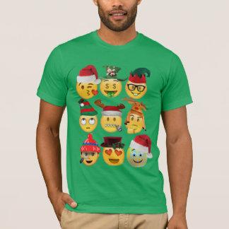 Weihnachtenemoji Dekorationen lustiger T-Shirt