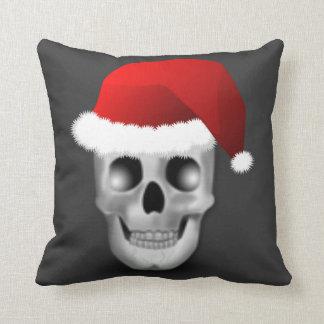 WeihnachtenGoth Schädel Weihnachtsmann Kissen