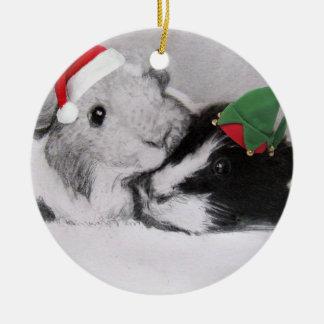 WeihnachtenPeegs Meerschweinchen Keramik Ornament
