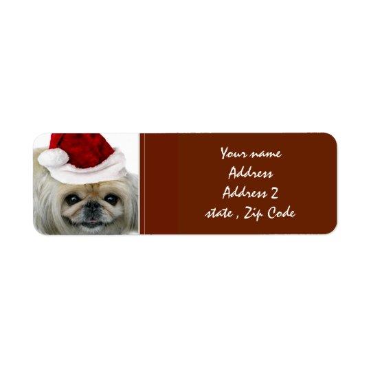 WeihnachtenPekingese Adressen-Etiketten Kleiner Adressaufkleber