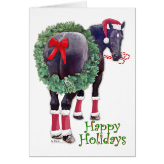 WeihnachtenPercheron Entwurfs-Pferd Karte