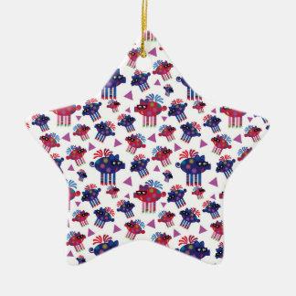 Weihnachtenpiggies Keramik Stern-Ornament