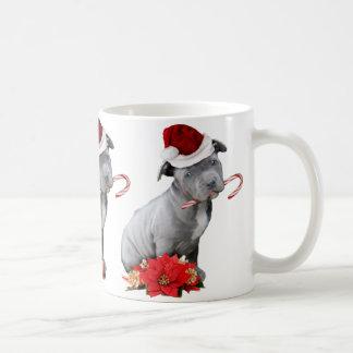 Weihnachtenpitbull Welpe Kaffeetasse