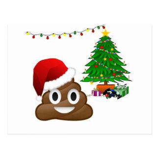 Weihnachtenpoo emoji postkarte