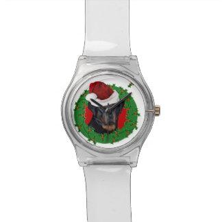 WeihnachtenRottweiler Hund Armbanduhr