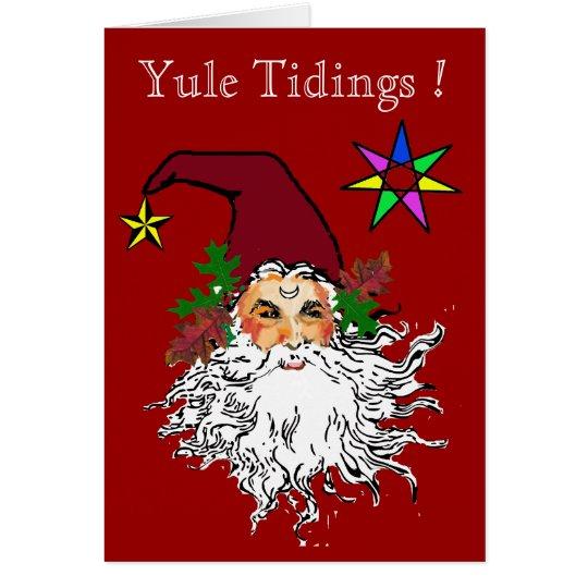 WeihnachtenTidings Grußkarte